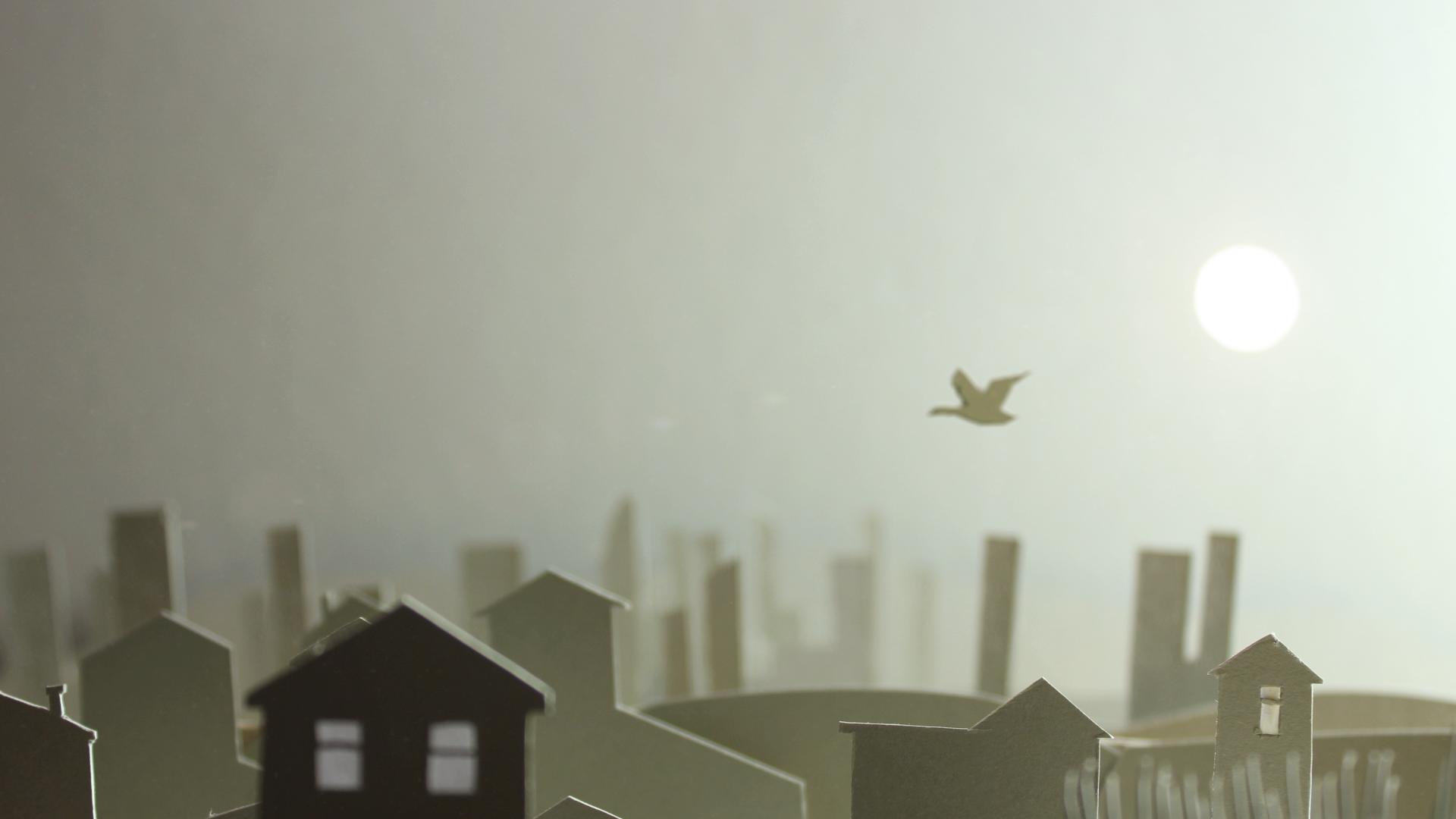 Tele-Bird-over-houses